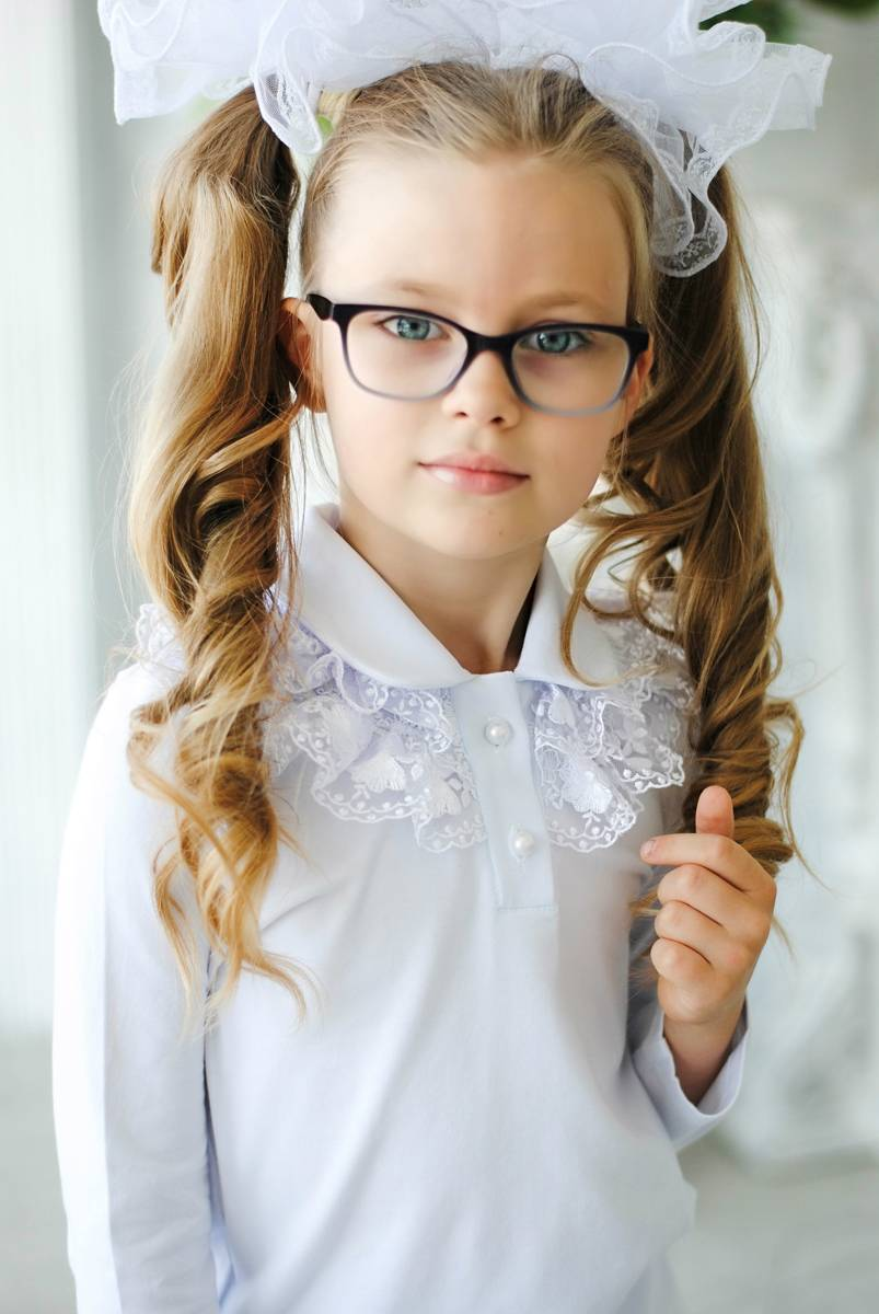 """Детская блузка с кружевом """"Лея"""""""