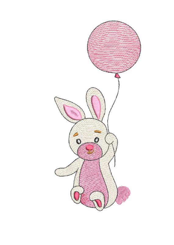 Зайка с воздушным шариком